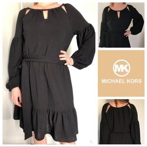 NWOT Michael Kors Textured Cut-Out Neck Dress S
